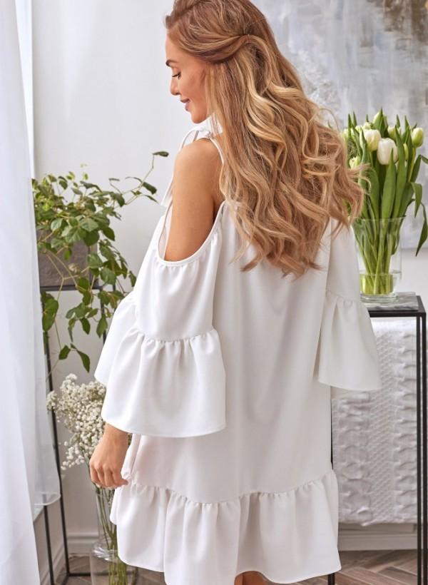 Sukienka Lila biała 1