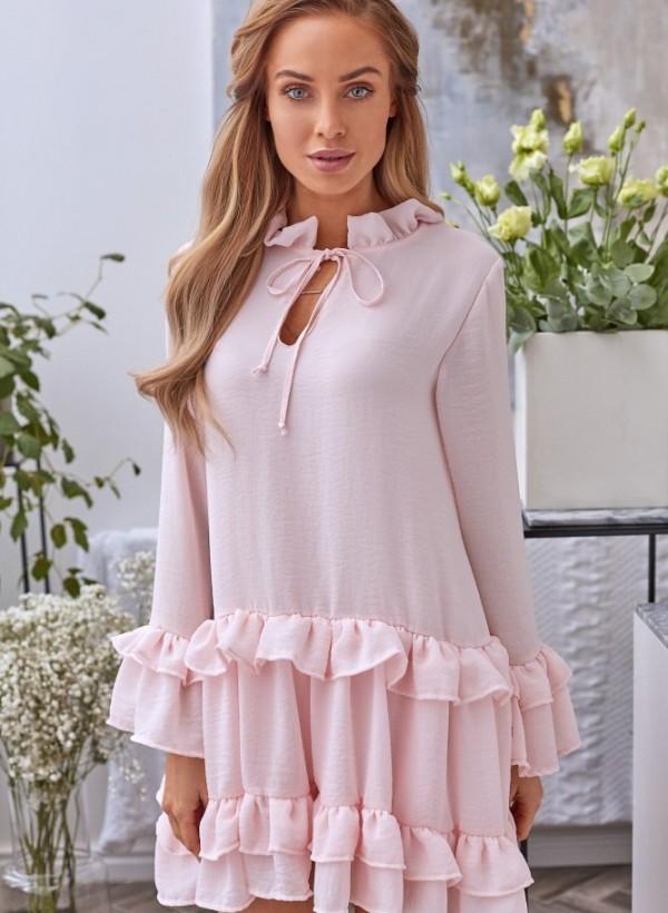Sukienka Lola falbanka j. róż