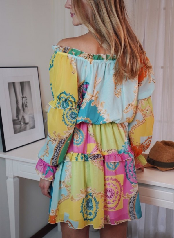 Sukienka Riri neon 1