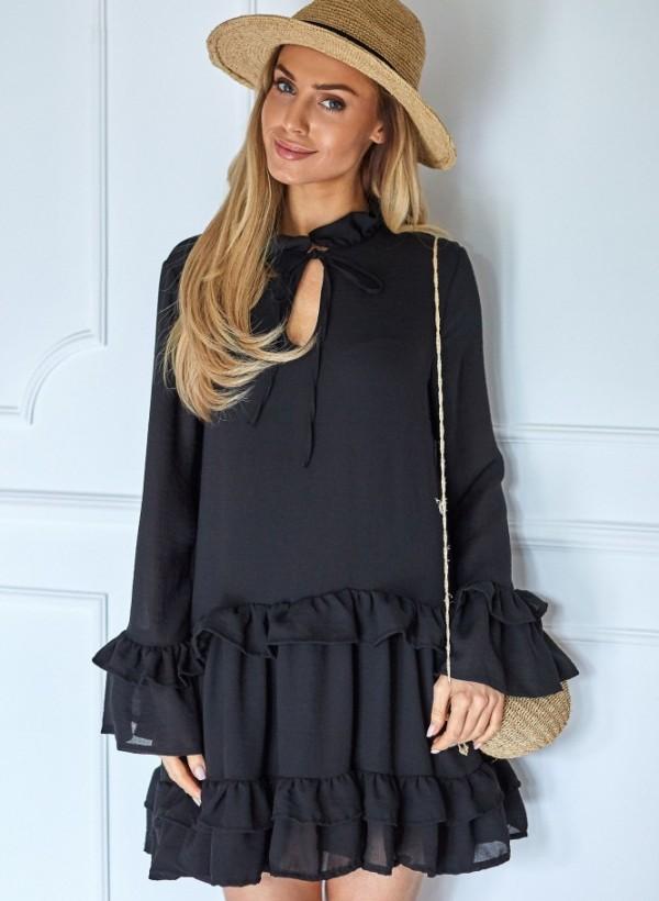 Sukienka Lola falbanka czarna
