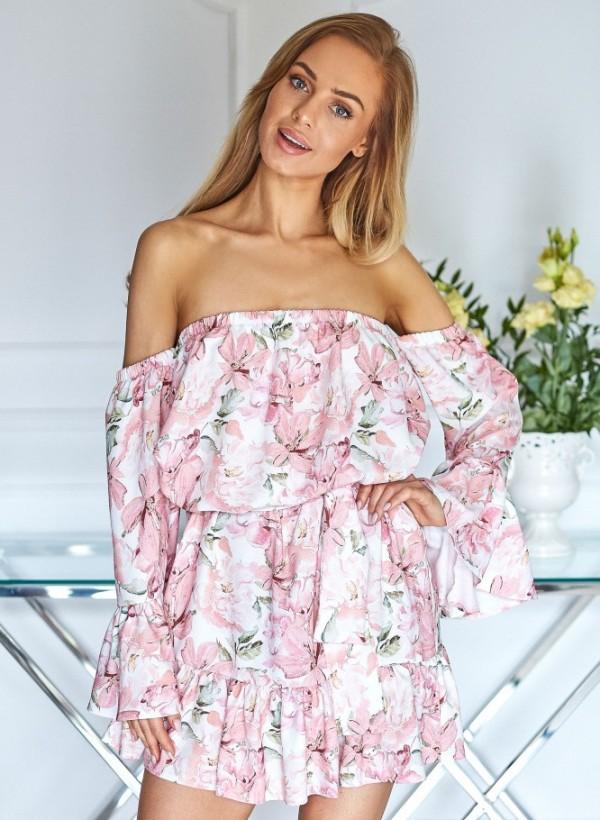 Sukienka Hiszpanka kwiaty j. róż
