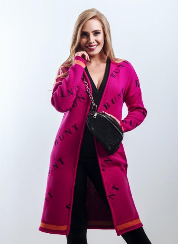 Kardigan Bunt Dark Pink
