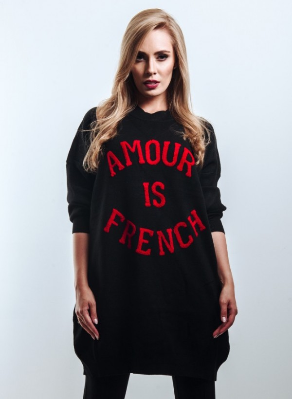 Sweter French Black