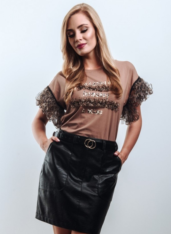 Spódnica Mini Czarna Eko
